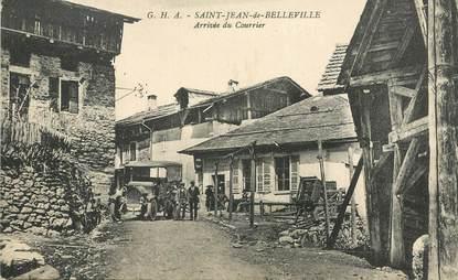 """CPA  FRANCE 73 """"Saint Jean de Belleville, arrivée du courrier"""" / BUS"""
