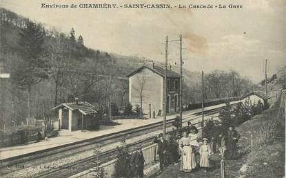 "CPA  FRANCE 73 ""Env. de Chambéry, Saint Cassin, la gare"""