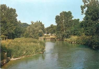 """/ CPSM FRANCE 72 """" La Chartre, Le Loir et la camping"""""""