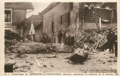 """CPA  FRANCE 73 """"Serrières en Chantagne, Catastrophe"""""""