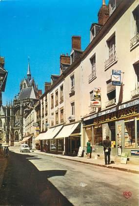 """/ CPSM FRANCE 72 """"La Ferté Bernard, la rue Carnot et la Cathédrale"""""""