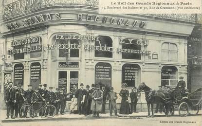 """CPA FRANCE 75009 """"Paris, Le Hall des Grands régionaux, boulevard des italiens"""""""