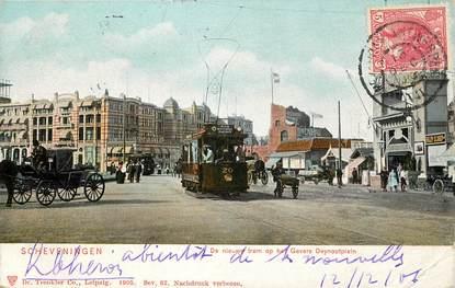 """CPA PAYS BAS """"Scheveningen, tramway"""""""