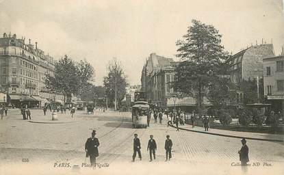 """CPA FRANCE 75009 """"Paris, Place Pigalle"""" / TRAMWAY"""