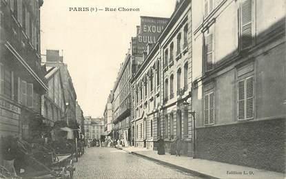 """CPA FRANCE 75009 """"Paris, Rue Choron"""""""