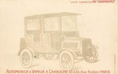 """CPA FRANCE 75009  """"Paris, Automobile à vapeur, rue Rodier"""" / CARTE LUMINEUSE"""