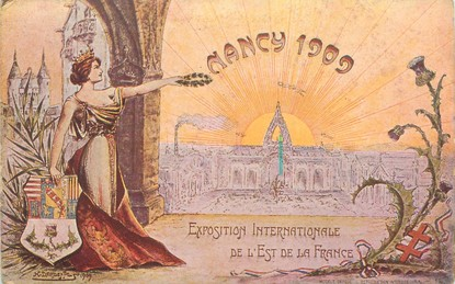 "/ CPA FRANCE 54 ""Nancy 1909, expostion internationale de l'est de la France""' / ART NOUVEAU"