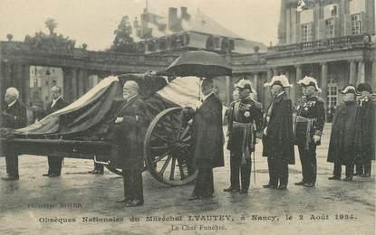 """/ CPA FRANCE 54 """"Nancy, obsèques Nationales du Maréchal Lyautey 1934 """""""