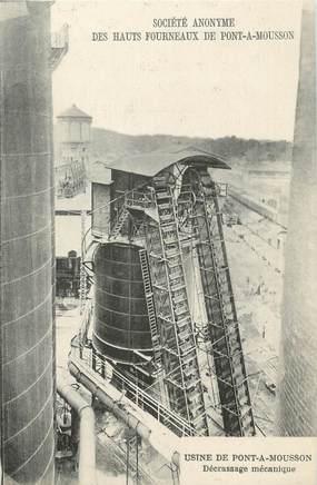 """/ CPA FRANCE 54 """"Pont A Mousson, Société anonyme des Hauts Fourneaux, usine"""" / MINE"""