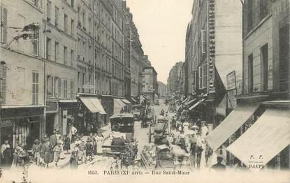 """CPA FRANCE 75011 """"Paris, Rue Saint Maur"""""""