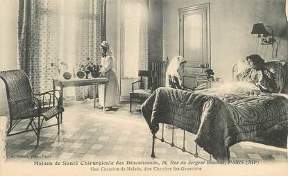 """CPA FRANCE 75012 """"Paris, rue du Sergent Bauchat, maison de santé chirurgicale des Diaconesses"""""""