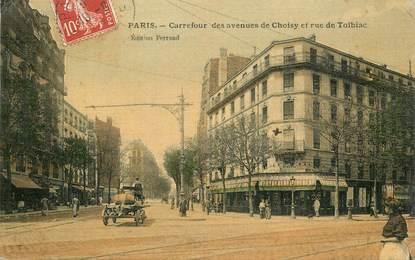 """CPA FRANCE 75013 """"Paris, carrefour des avenues de Choisy et rue de Tolbiac"""""""