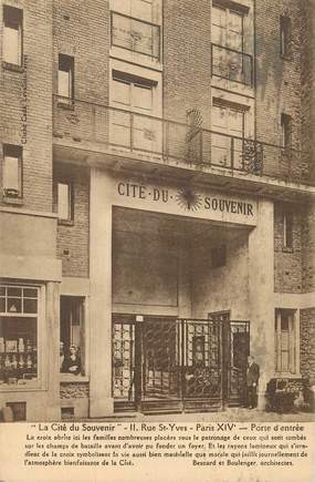"""CPA FRANCE 75014""""Paris, rue Saint Yves, la Cité du souvenir"""""""