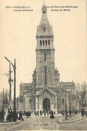 """CPA FRANCE 75014""""Paris, avenue d'Orléans, Eglise Saint Pierre de Montrouge"""""""