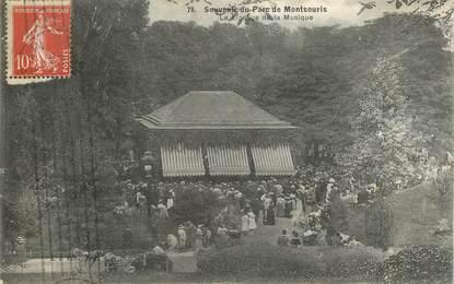 """CPA FRANCE 75014""""Paris, souvenir du Parc de Montsouris, le kiosque à musique"""""""