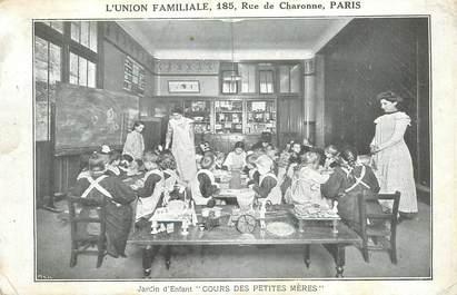 """CPA FRANCE 75014""""Paris, rue de Charonne, Jardin d'Enfant"""""""