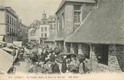 """56 Morbihan / CPA FRANCE 56 """"Auray, la vieille Halle, le jour de Marché"""""""