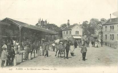 """CPA FRANCE 75015 """"Paris, le marché aux chevaux"""""""