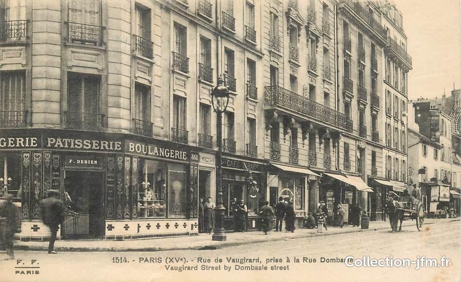 Cpa france 75015 paris rue de vaugirard prise la rue dombasle - Rue linois 75015 paris ...