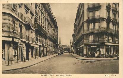 """CPA FRANCE 75015 """"Paris, Rue Clodion"""""""