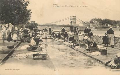 """/ CPA FRANCE 56 """"Lorient, côte d'Alger, le lavoir"""""""