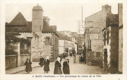 """/ CPA FRANCE 56 """"Baud, vue pittoresque du centre ville"""""""