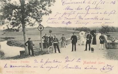 "/ CPA FRANCE 57 ""Manhoué, frontière"""