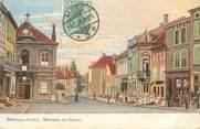"""57 Moselle / CPA FRANCE 57 """"Morhange, place du marché et mairie"""""""