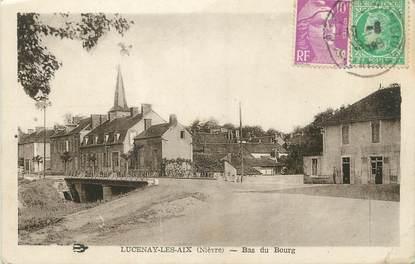 """/ CPA FRANCE 58 """"Lucenay Les Aix, bas du bourg"""""""