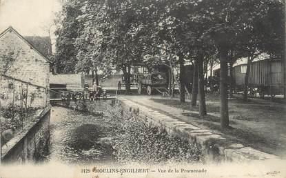 "/ CPA FRANCE 58 ""Moulin Engilbert, vue de la promenade"""