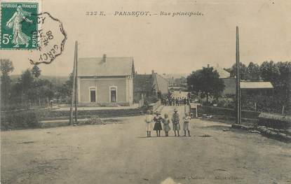 "/ CPA FRANCE 58 ""Panneçot, rue principale"""