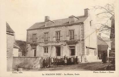 """/ CPA FRANCE 58 """"La Maison Dieu, la mairie, école"""""""
