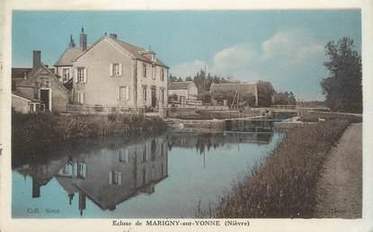 """/ CPA FRANCE 58 """"Ecluse de Marigny sur Yonne"""""""