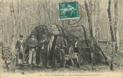"""/ CPA FRANCE 58 """"Les Charbonniers en forêt"""""""