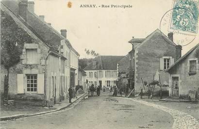 """/ CPA FRANCE 58 """"Annay, rue principale"""""""