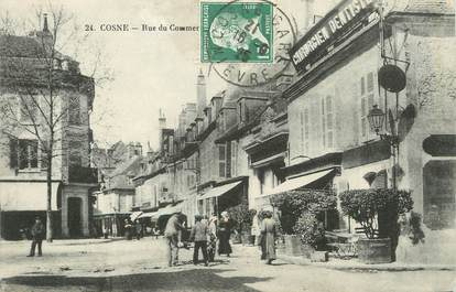 "/ CPA FRANCE 58 ""Cosne, rue du commerce"""