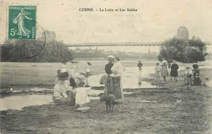 """/ CPA FRANCE 58 """"Cosne, la Loire et les Sables"""""""