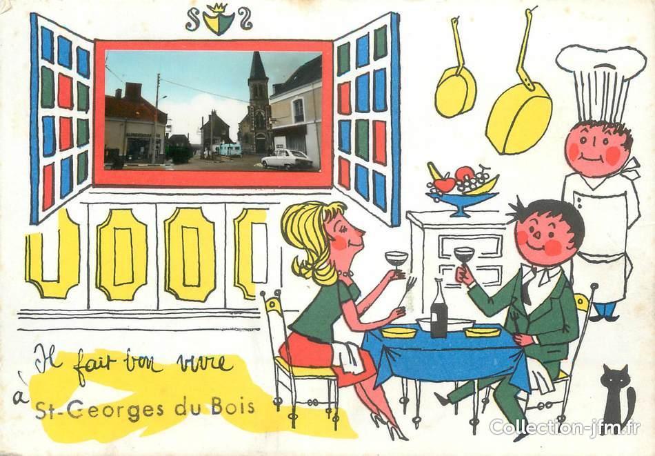 CPSM FRANCE 72 Saint Georges du Bois  72 sarthe  autres commune ~ Saint George Du Bois