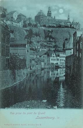 CPA LUXEMBOURG / vue prise du pont du Grund