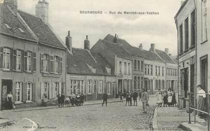 """/ CPA FRANCE 59 """"Bourbourg, rue du Marché aux vaches"""""""
