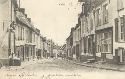 "/ CPA FRANCE 59 ""Cassel, rue de Saint Omer, venant de la gare"""