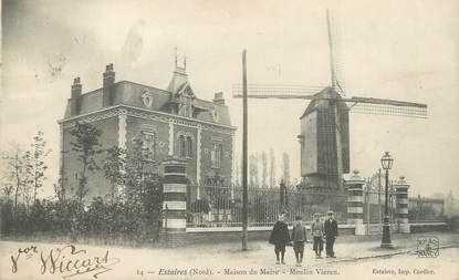 """/ CPA FRANCE 59 """"Estaires, maison du maire"""" / MOULIN"""