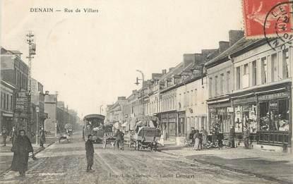 """/ CPA FRANCE 59 """"Denain, rue Villars"""""""