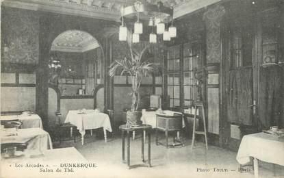 "/ CPA FRANCE 59 ""Dunkerque, les Arcades, salon de Thé"""