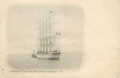 """/ CPA FRANCE 59 """"Dunkerque, les cinq mats  France"""""""