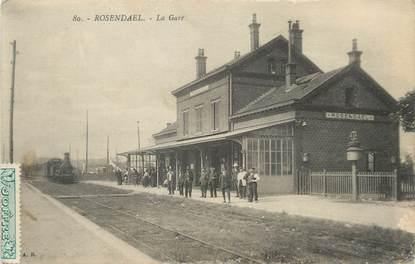 """/ CPA FRANCE 59 """"Rosendael, la gare"""""""