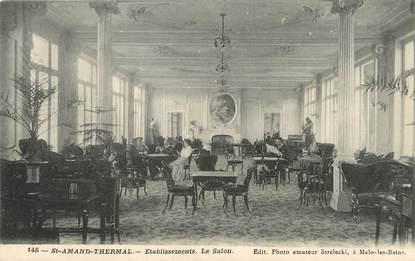 """/ CPA FRANCE 59 """"Saint Amand Thermal, établissements, le salon"""""""