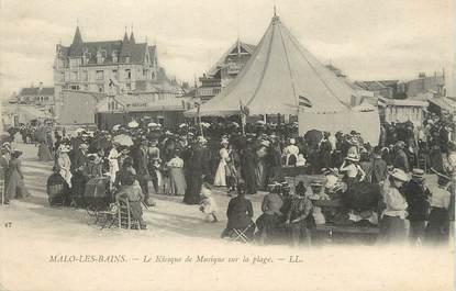 """/ CPA FRANCE 59 """"Malo Les Bains, le kiosque de musique sur la plage"""""""