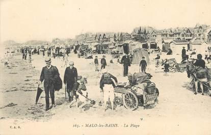 """/ CPA FRANCE 59 """"Malo Les Bains, la plage"""""""