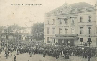 """/ CPA FRANCE 59 """"Roubaix, l'hôtel de  ville"""""""